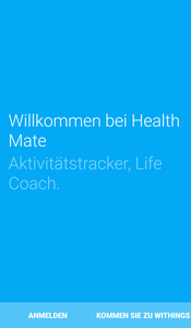 Health Mate - Account anlegen