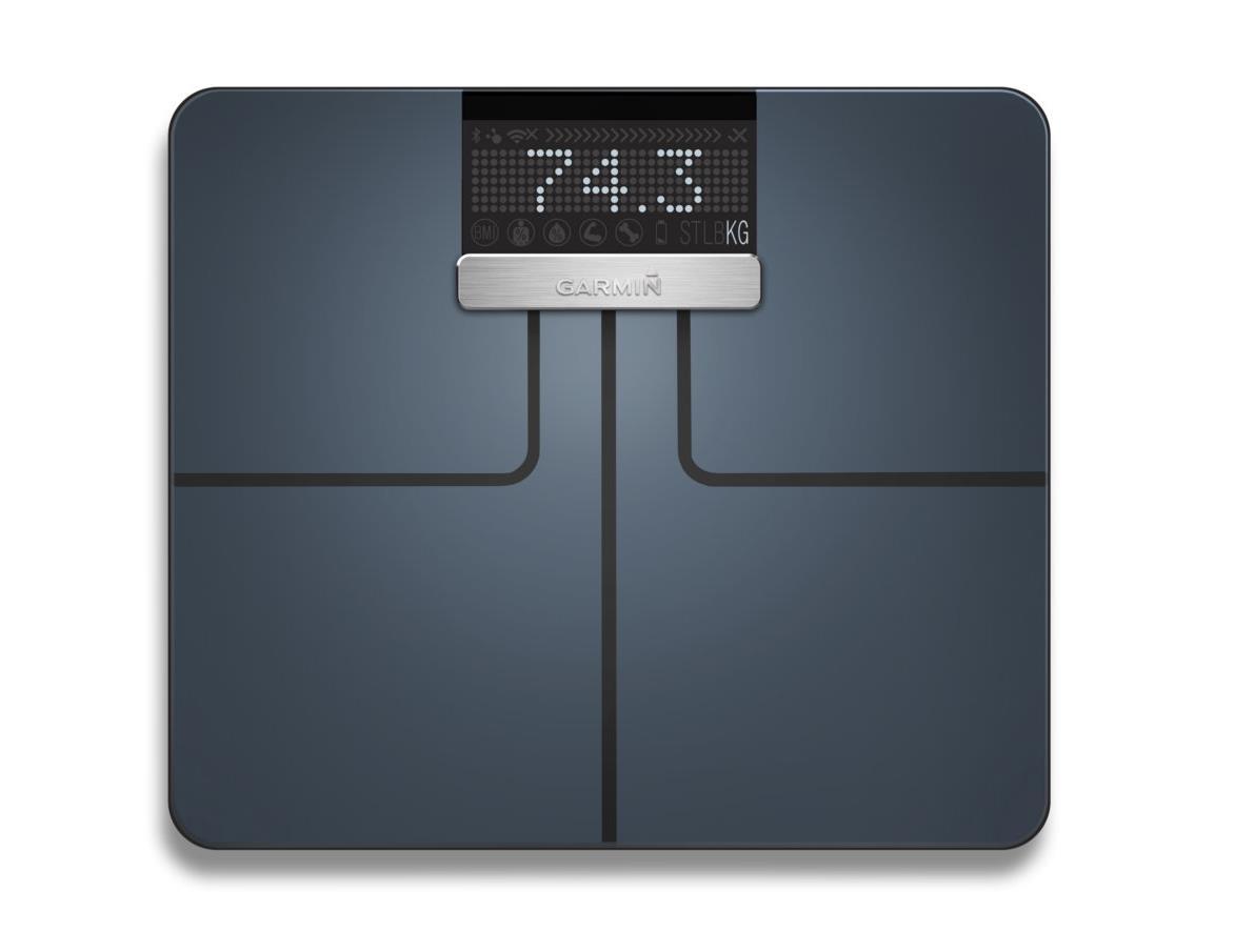 Garmin Index Smart Scale in Schwarz