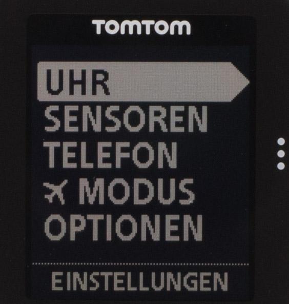 TomTom Runner Cardio - Display