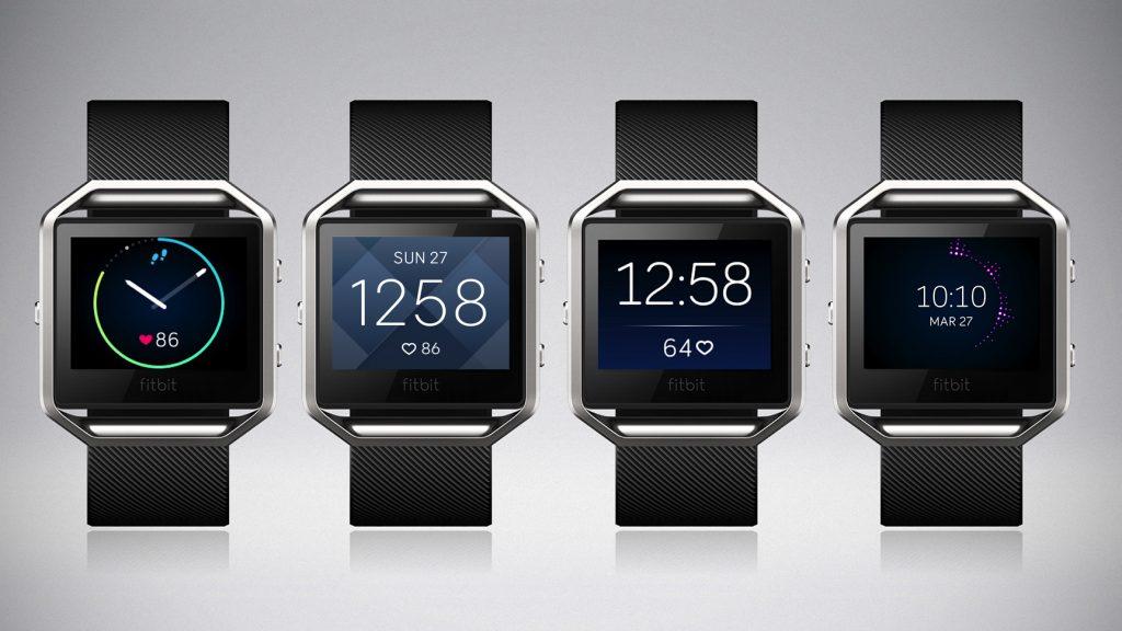 Fitbit Blaze - Unterschiedliche Uhranzeige (Bildquelle: www.fitbit.com)
