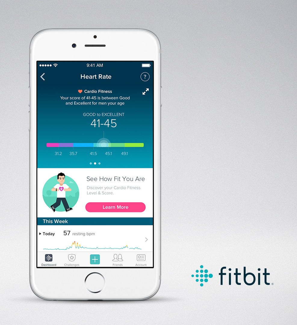 Fitbit Charge 2 - Cardio-Fitness (Quelle: Fitbit)