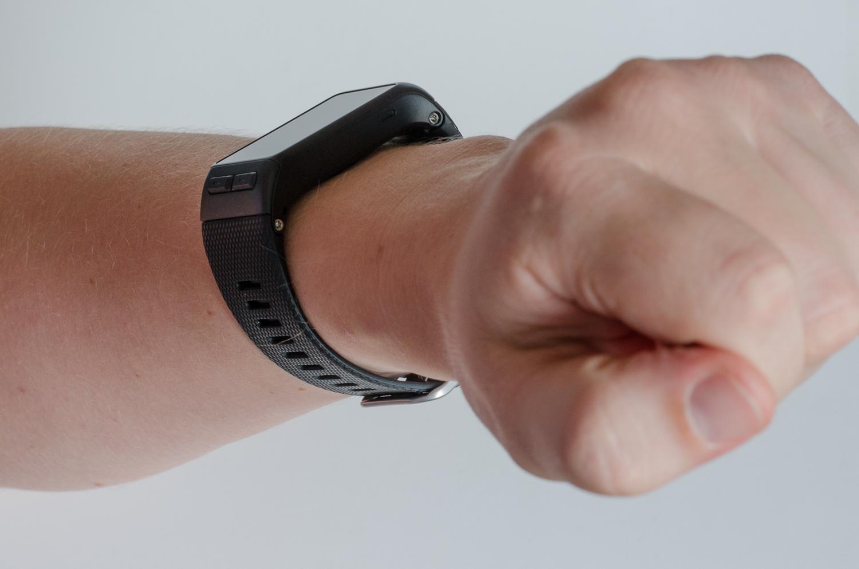 Garmin vivoactive HR an meinem Handgelenk