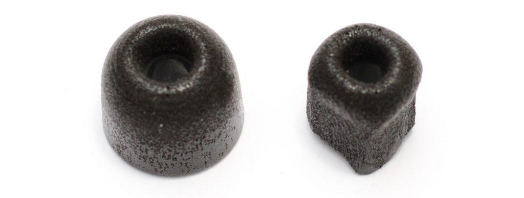 Jabra Sport Pulse - Comply Foam Tip (ausgedehnt vs. zusammengedrückt)