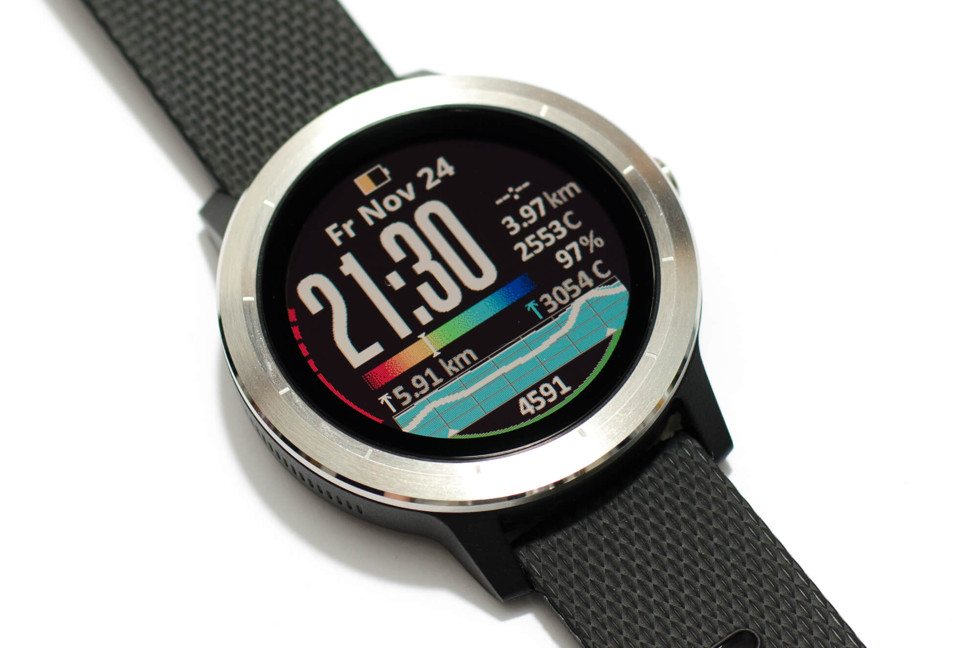 Garmin vivoactive 3 - Transflektives Display