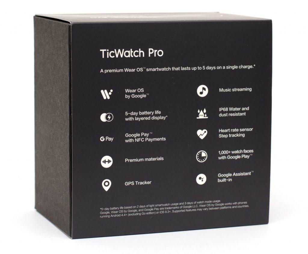 Mobvoi TicWatch Pro - Verpackung
