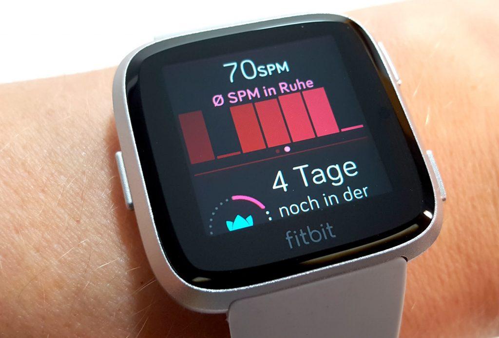Fitbit Versa - Tagesstatistik auf der Uhr