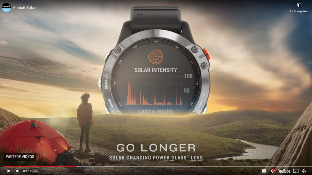 Garmin Fenix 6 Solar Series - Removed meanwhile (Source: Youtube)