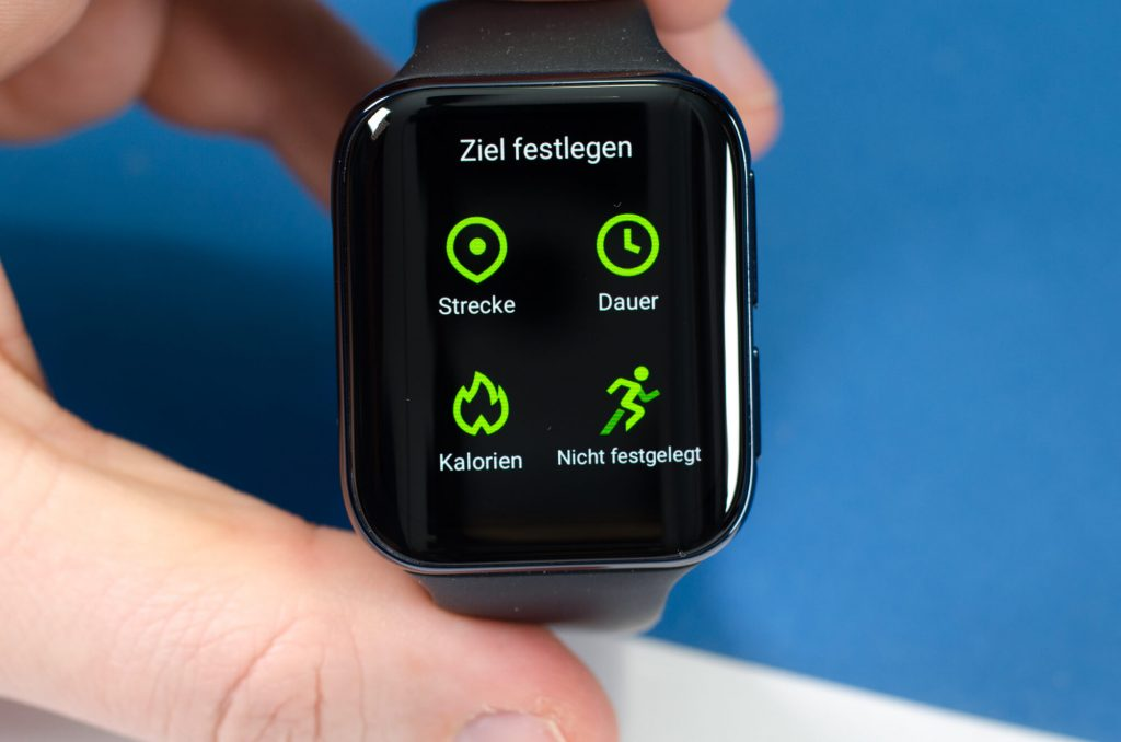 Oppo Watch - Zielvorgabe beim Fitnesslauf