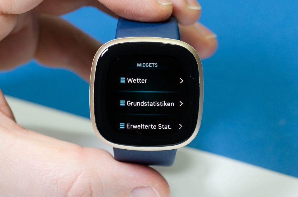 Fitbit Versa 3 - Erweiterung der Widget-Ansicht
