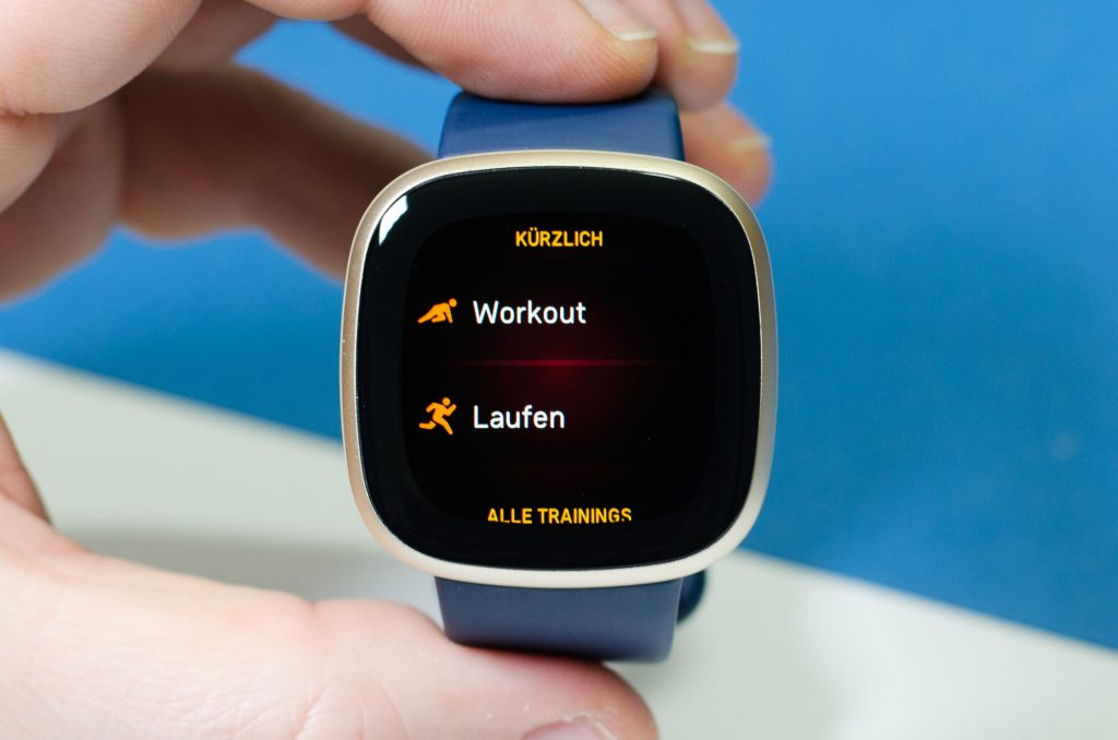 Fitbit Versa 3 - Auswahl von Aktivitäten