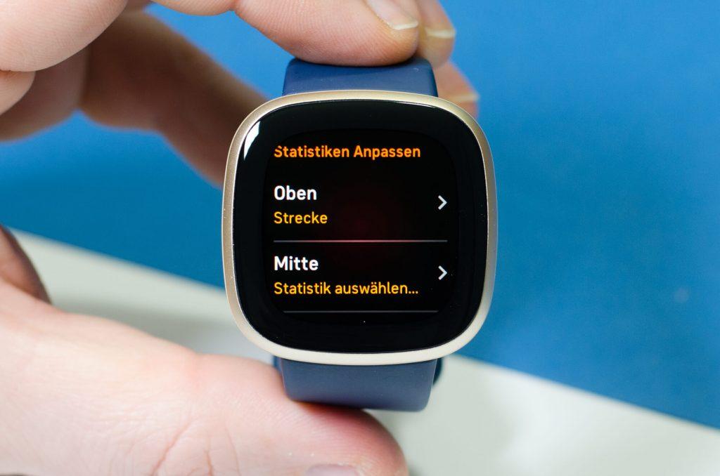 Fitbit Versa 3 - Datenfelder