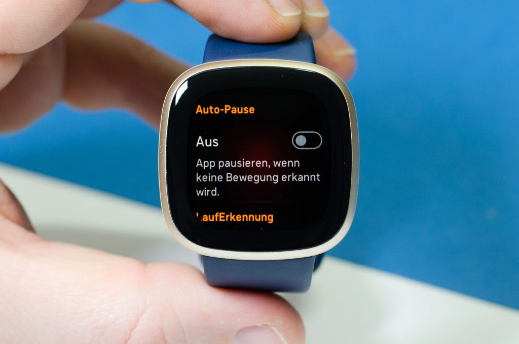 Fitbit Versa 3 - Auto-Pause
